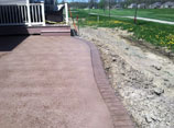 Decorative Concrete Front Walk