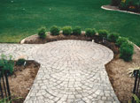 Stamped Concrete Garden Walk