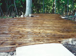 Wood Look Concrete Patio